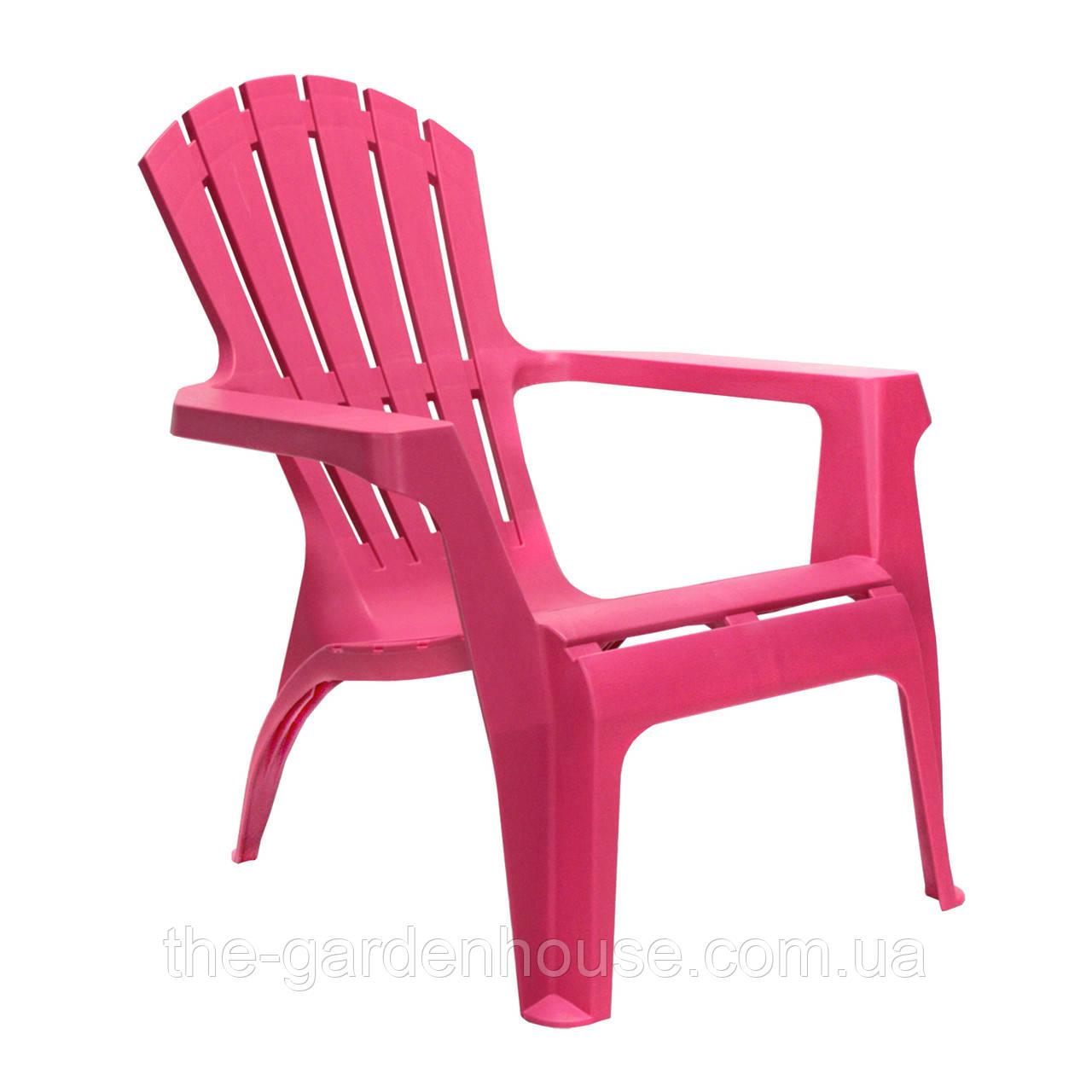 Садове пластикове крісло Dolomiti фуксія
