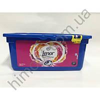 Гель-капсулы для стирки Lenor Rose 3in1  27 шт