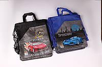 """Сумка для сменной обуви с карманом """"Speedway"""" 34×26 см. №7386, мешок для обуви текстиль, фото 1"""