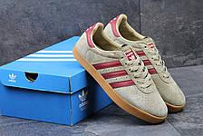 Мужские кроссовки Adidas 350 бежевые с бордовым 44р, фото 2