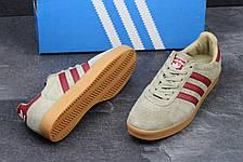 Мужские кроссовки Adidas 350 бежевые с бордовым 44р, фото 3