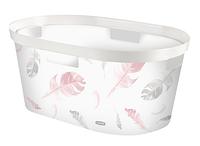 Пластиковая корзина для белья белая на 40 л INFINITY Curver 232136
