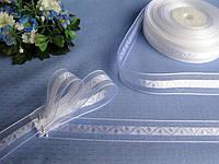 Декоративные перфорированная лента из атласа - сердечки и лента атлас с органзой.