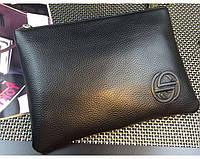 Мужской кожаный клатч Gucci (7801) black