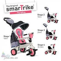 Велосипед трехколесный Smart Trike Deluxe Touch Steering 4 в 1 Pink