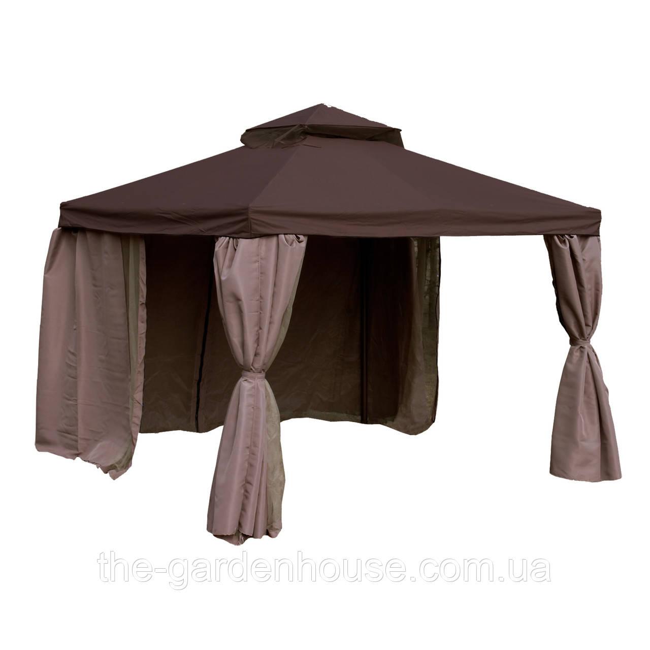 Садовый шатер Legend с москитной сеткой 3х3 м коричневый