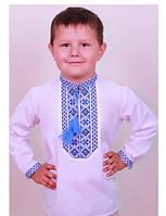 Детская вышиванка с синими нитками / Дитяча вишиванка для хлопчиків
