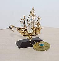 Фигурка с кристаллами Сваровски Парусник 10 см AR-4005