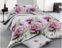 Комплект постельного белья  двуспальный с цветами