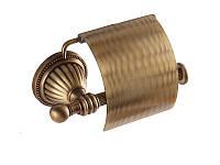 Держатель для туалетной бумаги с крышкой Kugu Hestia, бронза