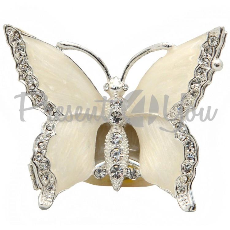 Шкатулка для украшений «Бабочка» 7х6х2 см.