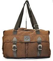 Сумка дорожная спортивная текстильная коричневая 1320-2