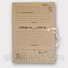 Папка архівна із зав'язками А4, висота корінця 20 мм