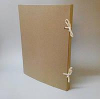 Папка А2 на завязках из картона 2,0 мм Высота корешка 20 мм, фото 1