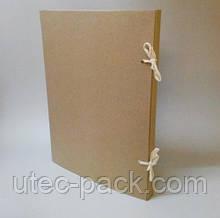 Папка А2 на зав'язках з картону 2,0 мм Висота корінця 20 мм