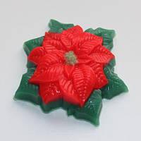 Пластиковая форма для мыла Пуансетия