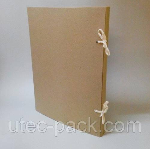 Папка архивная на завязках без титулки  А4 из картона 2,0 мм Высота корешка 20 мм