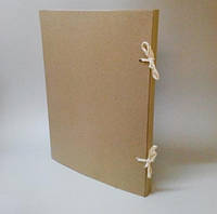 Папка архивная на завязках без титулки  А4 из картона 2,0 мм Высота корешка 20 мм, фото 1