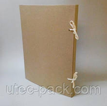 Папка А2 на зав'язках з картону 2,0 мм Висота корінця 30 мм