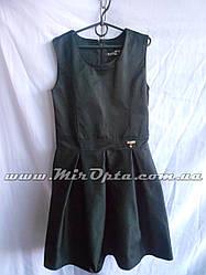 Школьный сарафан для девочки чёрный (рост 134 - 152 см) купить оптом со склада