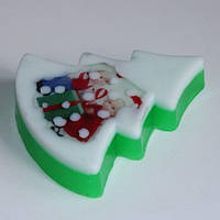 Пластиковая форма для мыла Ёлка плоская