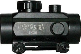Прицел 1х35 Walter коллиматорный с креплением 21 мм на планку Weaver