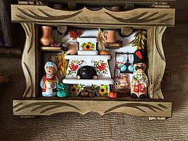 """Настенное декоративное панно """"В гостях у Солохи та козака"""". Украинские сувениры"""