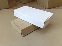 Картонные коробки самосборные 303х153х53, белые