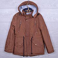 """Куртка подростковая демисезонная """"M&Z"""" #16В-1 для мальчиков. Размеры 34-42. Коричневая. Оптом., фото 1"""