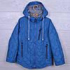 """Куртка подростковая демисезонная """"M&Y"""" #BM-6 для мальчиков. Размеры 122-146 см. Голубая. Оптом."""