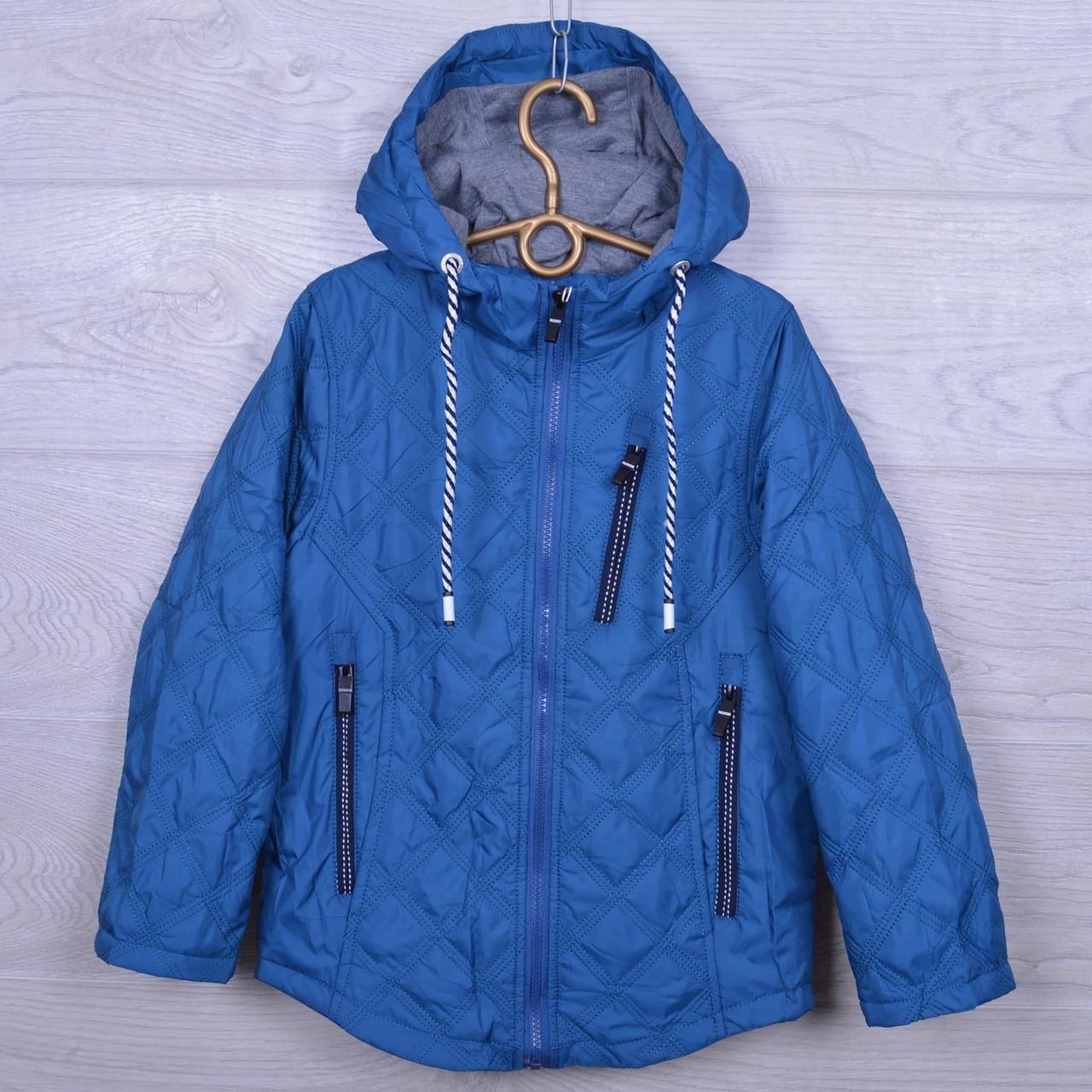 """Куртка подростковая демисезонная """"M&Y"""" #BM-6 для мальчиков. Размеры 122-146 см. Голубая. Оптом., фото 1"""