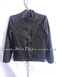 Пиджак школьный для девочки чёрный (рост 116 - 128 см) купить оптом прямой поставщик