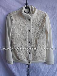 Пиджак школьный для девочки молочный (рост 116 - 128 см) купить оптом прямой поставщик
