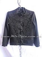 Пиджак школьный для девочки чёрный (рост 134 - 152 см) купить оптом прямой поставщик