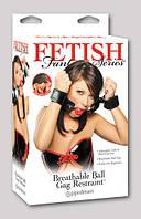 Набор БДСМ - Fetish Fantasy Series Breathable Ball Gag & Handcuffs, Schwarz/Rot.