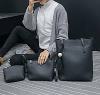 Набор 3 в 1 JingPin , сумка-мешок, клатч и косметичка