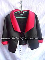 Пиджак школьный для девочки чёрный (рост 128 - 146 см) купить оптом прямой поставщик