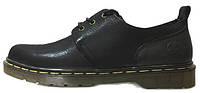 Мужские туфли Dr. Martens Oxford Low Leather Black (Доктор Мартинс) черные