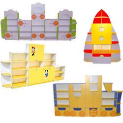 Дитячі ігрові стінки, стелажі