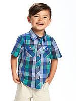 Детская клетчатая рубашка с коротким рукавом (тениска) Old Navy для мальчика