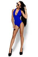 Жіночий синій купальник на зав'язці Anabel