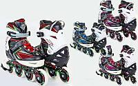 Ролики раздвижные с алюминиевой рамой Perfection 9002, 3 цвета: размер 35-38, 39-42, фото 1