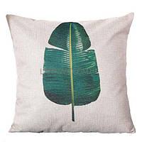 Декоративная наволочка на подушку с листочком