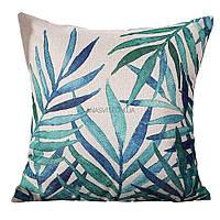 Декоративная наволочка на подушку с тропическим принтом