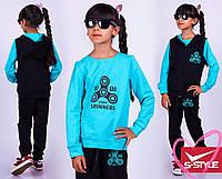 Спортивный костюм тройка для девочки, двухнить,размеры: 116-122, 128-134, 140-146