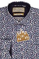 """Ультрамодная школьная рубашка для мальчика """"Турецкие огурцы"""" 100%-хлопок"""