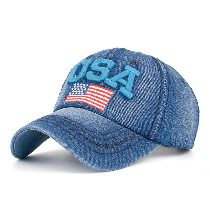 Джинсовая бейсболка USA. Цвет №2.