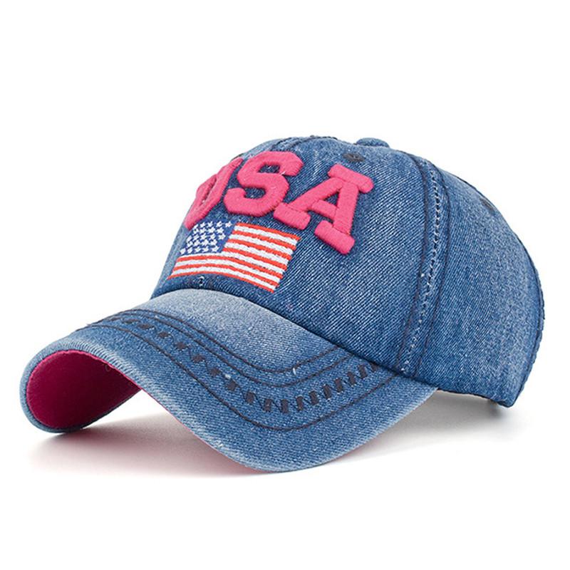 Джинсовая бейсболка USA. Цвет №5.