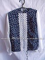 Блузка школьная для девочки сердечки (рост 122 - 140 см) купить оптом в Украине