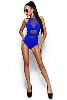 Жіночий синій купальник-боді Lain